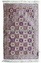High weight 100%chenille high quality Muslim prayer rug