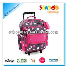 Latest trendy multifunctional trolley school bag