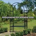 decorativos de hierro artístico arco de jardín con el banco para la boda