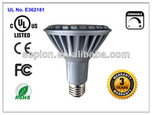 led spot lamp cul 3 years warranty dimmable par30 11w high power