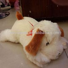 White Plush Stuffed Animal Sleeping Dog