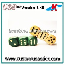 wooden dice 16GB usb flash drive