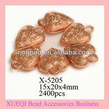 hearted shape pendan jewelry beads uv beads wholesale