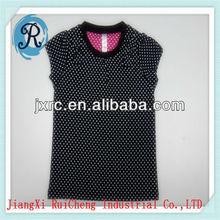 OEM china factory fashion O-neck short sleeve single jersey 100% cotton 180 GRS baby dress cutting