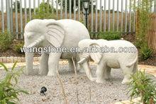 Elephant stone sculpture,elephant statue decoration,handmade elephant statue