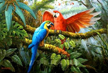 New Arrival Handmade Canvas Bird Animal Oil Painting for Kids Children
