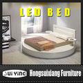 sy a508 moderno y contemporáneo infinito de la plataforma de la cama redonda con luces