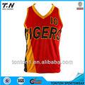 diseño personalizado de malla reversible camisetas de baloncesto