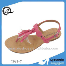 2013 girls fashion nude beach slippers with rainbow color shoe factory italy