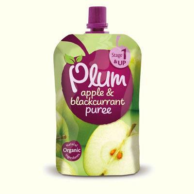 Plum Baby Apple & Blackburrant Puree Stage1 4mths+ 100g