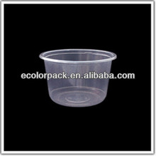China Manufacturer Round Disposable Plastic Food Container With Lid