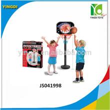 Mini children plastic portable basketball stand toy set