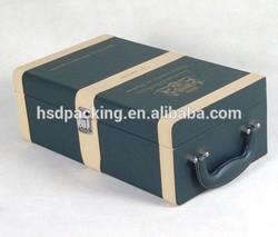 Luxury leather wine carrier(HSD-102203)