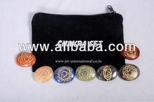 Engraved Reiki Chakra Stone Sets Oval