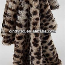 10m leopard plushed short pile 100% polyester print fake fur fabric