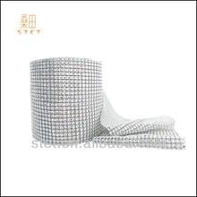 Wedding centerpiece crystal rhinestone sew on strip mesh