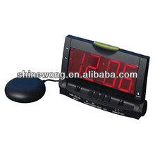 digital transparent alarm clock with Bed Shaker/Big LED Alarm Clock