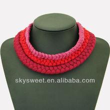 россия плетеные спортивных ожерелье, плетеные шнуры оёерелье