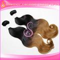 De haute qualité vague de corps noir cheveux two tone couleur