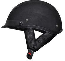 Leather Motorcycle Scooter Half Helmet TN-8617 Top Sale