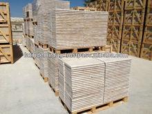 "Ivory Travertine - Bullnose, Pool Coping 305x610x30 mm (12x24x1.1/5"") - Premium Quality, D"