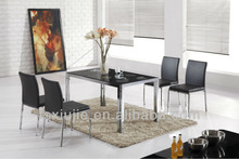 European Style PVC Covered Glass Dining Table And 6 Chairs BVL655