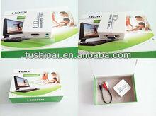 HDMI to VGA Video Cable - Support HD 1080P (Black, Mini HDMI To VGA)