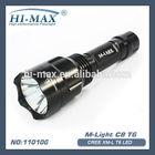 cree xm-l T6 led flashlight ultrafire t6 c8 led flashlight