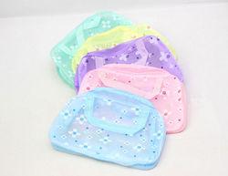 Sweety flower plastic printed PVC waterproof toiletry cosmetic tote bag