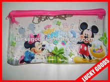 cartoon design printed soft pvc pencil pouch for kids