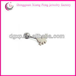 butterfly top straight barbell china supplier tongue rings piercings