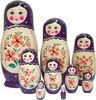 Unpainted Russian Nesting Dolls | Blank Matryoshka Set | DIY Doll Set