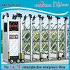 Retractable barrier gate decorative aluminum iron pipe gate design