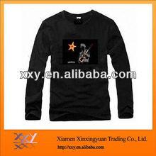 Soft Cotton Tshirts For Mens Wearing Black Plain Tee