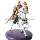 OEM warrior & horse figurine polyresin