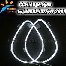 8000k Warm white 2PCS halo rings for FIT 2009, CCFL Angel Eyes kits( 2 rings + 2 Interver) for HONDA
