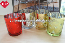 laser engraving electroplating glass candle holder tealight for christmas wedding invitations