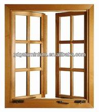 PVC/UPVC/plastic/Aluminum double leaf casement window with grill design manufacturer
