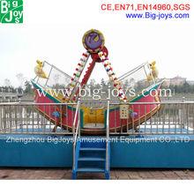 small outdoor amusement park ride pirate ship with attractive designation
