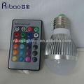 cambiamento di colore e27 rgb led lampadina con telecomando