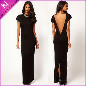 YYH-LA0921020# Hot Sale Black Designer Dress