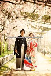 Kimono Location Photo Plan in Japan with gift bag and kimono