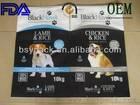 25kg biodegradable slider zipper top plastic dog food bag+accept custom free shipping