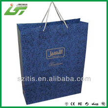 Luxury printing paper carrying bag with handles publisher factory