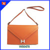 Latest fashion genuine leather land bags college students' envelope clutch handbag simple cell phone shoulder strap bags