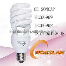 9W 15W 18W 20W 26W half spiral lamp cfl light bulbs energy savers bulbs
