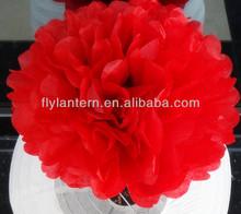 2015 Fashion Tissue handmade flower paper pom poms for wedding decoration