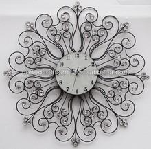 2013 promotion custom design antique metal art brass wall clock