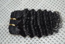 Cheap Virgin Malaysian Curly hair Natural color Human hair weft