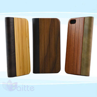 Case Hand Craft Wood Glide Cover Case sublimation mobile phone wood case for iphone 5s